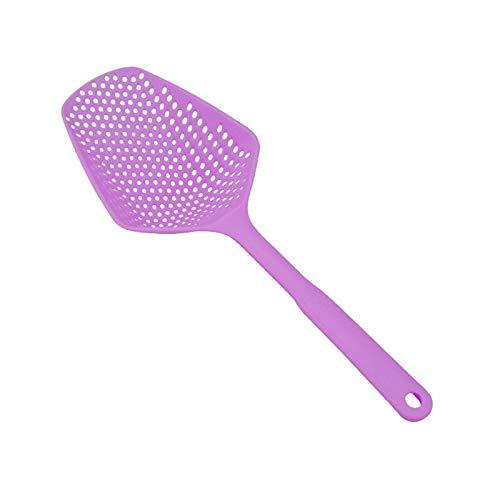 1pc de colador de nylon Scoop Colander Cocina Utensilios de cocina Accesorios Gadgets Drenaje Veggies Agua Scoop Portátil Hoblería de cocina (Color : Purple)