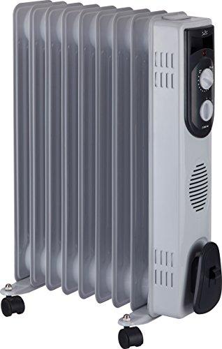 Jata R109 Radiador de aceite con 9 elementos caloríficos, 2000 W, Acero Inoxidable, Blanco