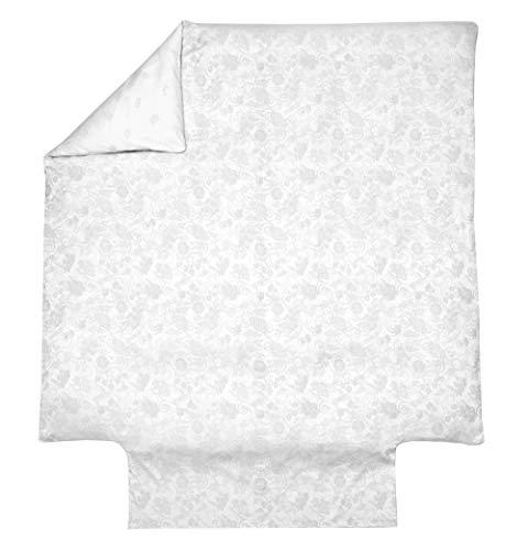 Blanc des Vosges Hesperide Nacre Housse de Couette 200 x 200 cm - Satin Jacquard 100% Coton