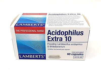 Lamberts Acidophilus Extra 10 billion bacteria - 60 Capsules