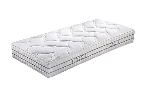 Hn8 Schlafsysteme 'Duo Luxe' Doppel-Tonnen-Taschenfederkern-Matratze mit 7-Zonen, Härtegrad H4, Größe:140 x 220 cm