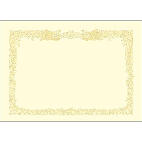 タカ印 賞状用紙 OA対応 10-1087 A3 縦書き クリーム ケント紙 10枚 [2579]