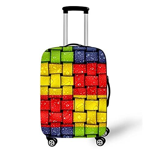 Surwin 3D Elastica Proteggi Valigia Suitcase Luggage Cover Coperchio di Protezione Antipolvere Lavabile Copertura Viaggio Proteggi Bagagli Coprire (Cintura intrecciata,M (22-24 pollici))