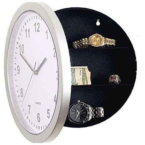 NIDONE 1pc Reloj Safe Ocult Hidden Compartimiento de la Pared Safe Safety Funciona Reloj analógico de Trabajo con Almacenamiento en el Interior Secreto para joyería, Efectivo, Objetos de Valor