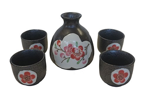 Japanese Black Sake Set