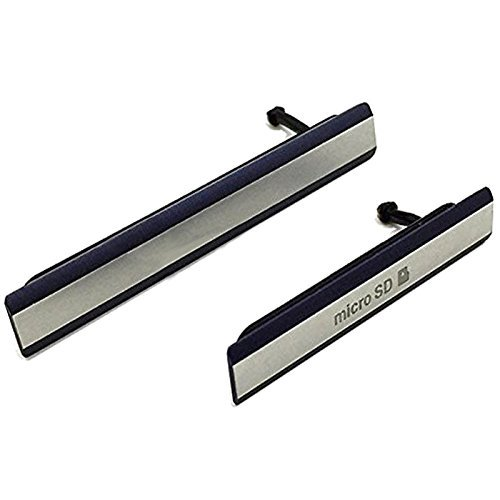 Hedywei Micro USB Cover per Sony Xperia Z2 D6502 D6503 D6543 Micro SD/SIM Card Slot (Nero)