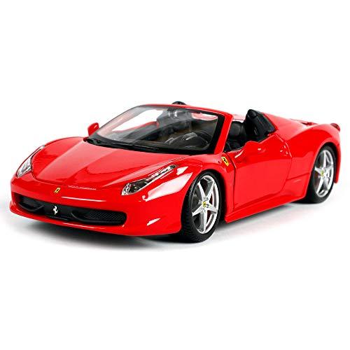LMEI-Cars Ferrari 458 Spider Maqueta Coche - 1: 24 Autos Deportivos CláSicos Rojos, Modelo De FundicióN A PresióN De...