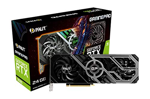 Palit GeForce RTX 3090 GamingPro 24GB GDDR6X Ray-Tracing Grafikkarte, 10496 Core, 1395MHz GPU, 1695MHz Boost, 3X DisplayPort, HDMI, Advanced TurboFan 3.0