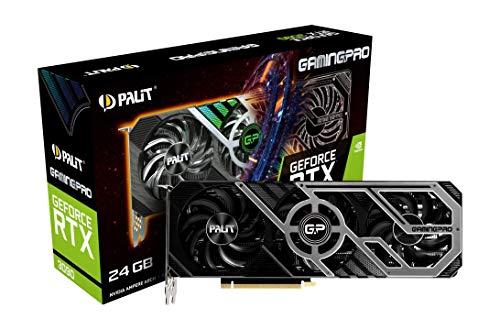 Palit GeForce RTX 3090 GamingPro 24GB GDDR6X Ray-Tracing Scheda grafica 10496 Core, 1395MHz GPU, 1695MHz Boost, 3 x DisplayPort, HDMI, Advanced TurboFan 3.0