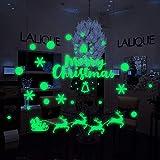 Noche que brilla intensamente Navidad Muñeco de nieve Fluorescente 3D Etiqueta de la pared Etiqueta ...