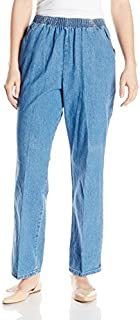 Chic Classic Collection Women's Cotton Pull-on Pant with...