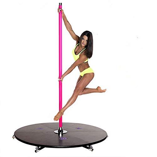 TINE Pole Pole Dance Stripper Profesional Girar Extraíble Polo Polo Polo Bailando Kit por Bailar Separador Ejercicio Partido del Club De Fitness,Rosado