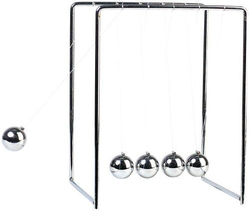 Infactory Péndulo esférico: La Cuna de Newton, Péndulo de Lanzamiento de Bala (Newton Péndulo)