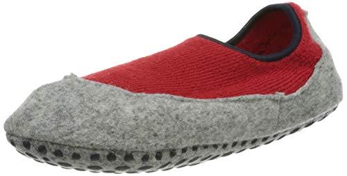 FALKE Unisex Kinder Cosy Slipper Stoppersocken, rot (red Pepper 8074), 23-24