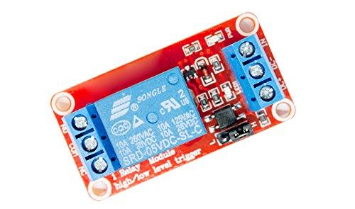 MissBirdler 1-Kanal Relais Relay red Modul 5V für Arduino Raspberry Pi PIC AVR ARM MCU