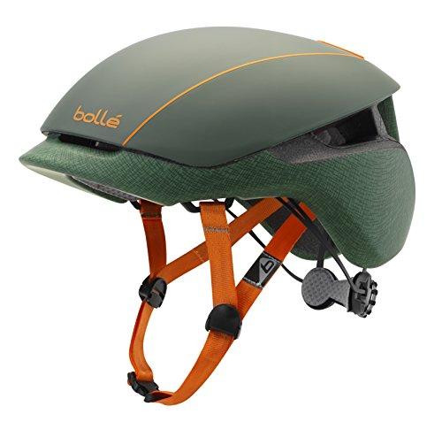 bollé Erwachsene Messenger Standard Cycling Helmets, Khaki/Orange, 58-62 cm