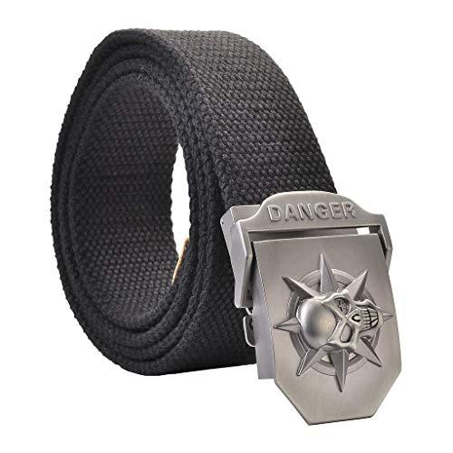 Anaisy Cinturón Para Hombre Ocio Cinturón Para Con Cinturón Hombre De Lona...
