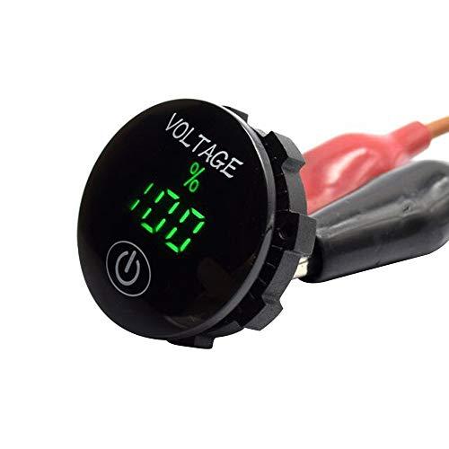 KKmoon DC 12V-24V Auto Digital Voltmeter LED Panel Spannungsprüfer mit Touch ON Off Schalter Batteriekapazität Anzeige Voltmeter für SUV Truck Motorrad Boot Reitmäher Traktor