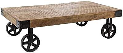 42e5183f37da4 PierImport Table Basse Industrielle roulettes LANDAISE  Amazon.fr ...