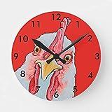 Ninguna marca reloj de pollo redondo reloj
