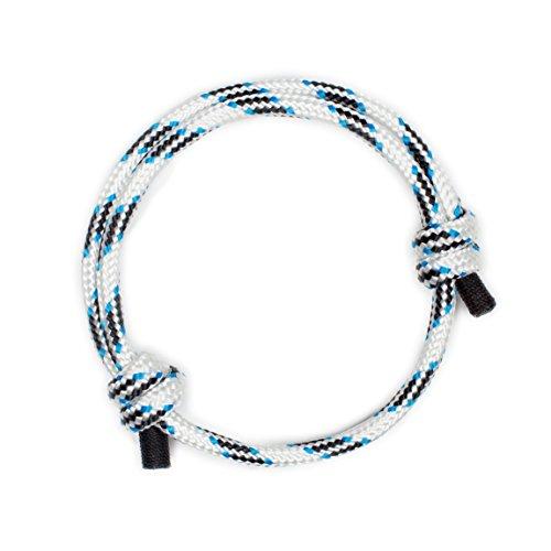 Pulsera Náutica Elegante Blanca de Cuerda de la Más Alta Calidad para Hombre
