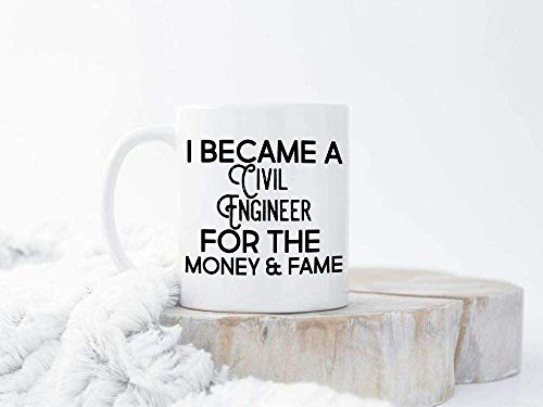 Bauingenieur - Taza de café (cerámica), color blanco