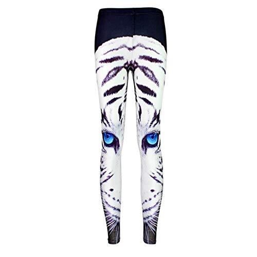 YUJIAKU Yoga broek/strak/Abdominale oefening running yoga leggings Tide ster digitale afdrukken blauw oog witte tijger voeten leggings