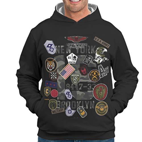NiTIAN neem de universele Camouflage College Printed Unisex heren sweatshirts capuchonpullover licht comfortabele trui met capuchon Gift for Family