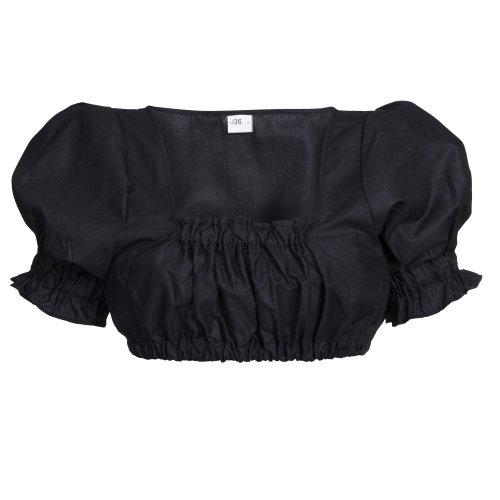 Bongossi-Trade Dirndlbluse, schwarz, Trachtenbluse, Dirndl Bluse, Trachtenmode für Damen Gr. 52