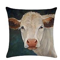 火の色 クッションカバー コック 豚 羊 可愛い ソファ背当て 抱き枕カバー インテリア 汚れ防止 羊2