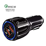 TOP CHARGEUR * Chargeur Voiture Allume Cigare 30W Quick Charge 3.0 Qualcomm 2 Ports USB pour Samsung...