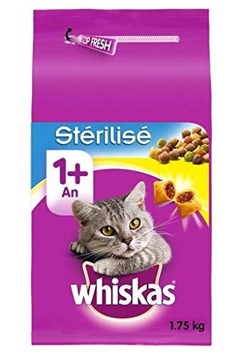 Whiskas-Croquetas de pollo, para gatos esterilizados, 1,75kg