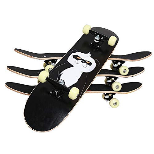 Zhicaikeji Skateboard Monopatín con la Rueda de Flash Completa Monopatín estándar del Arce patín Patín Danza Patineta (Color : 01, Size : 79x20cm)