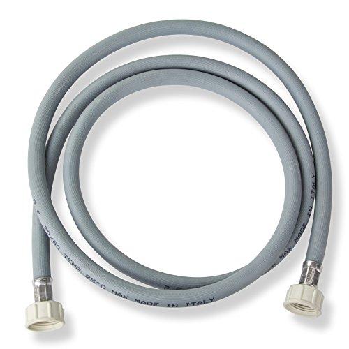 Stabilo Sanitaire toevoerslang 3/4 inch 2 m aansluitingen rechte koud water aansluitslang wasmachine vaatwasser slang waterslang toevoerslang