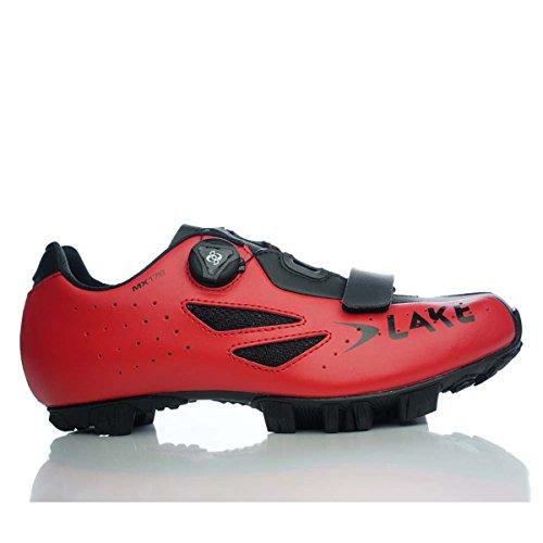 Lake MX176 - Zapatillas de Ciclismo Unisex para Adultos, Rojo/Negro, Talla 42
