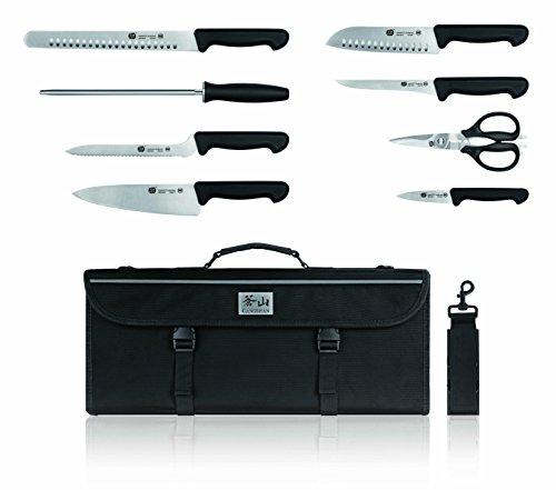 Top Cut by Cangshan   P2 Series 1020120 Sandvik 12C27 Swedish Steel 9-Piece Knife Bag Set