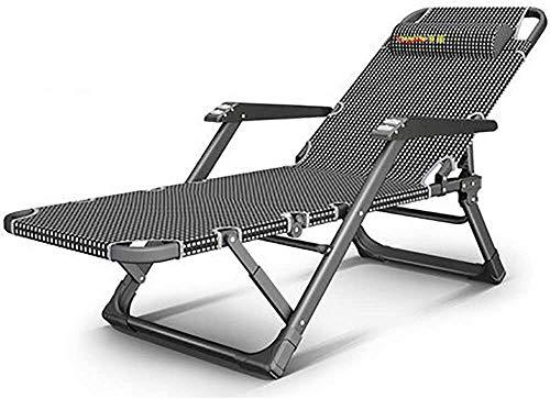 PARTAS Sonnen Daze Gartenliegen Schwerelosigkeit Stühle im Freien Stuhl Sessel Folding Liegestuhl Upgrade Die Roller Massage Armlehne, mit Anti-Rutsch-Füße