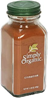Simply Organic Cinnamon Ground Certified Organic, 2.45-Ounce Containers (Pack of 3)