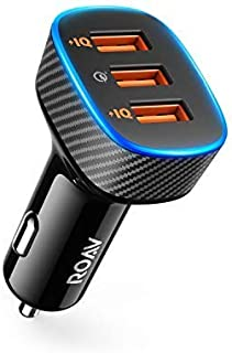 Roav SmartCharge Halo, by Anker, 3-Port USB 30W Car Charger with Quick Charge 3.0 and PowerIQ for iPhone Xs/XS Max/XR/X/8, iPad Pro/Air 2/Mini, Galaxy S8/Edge, Note 8/5/4, Nexus, and More