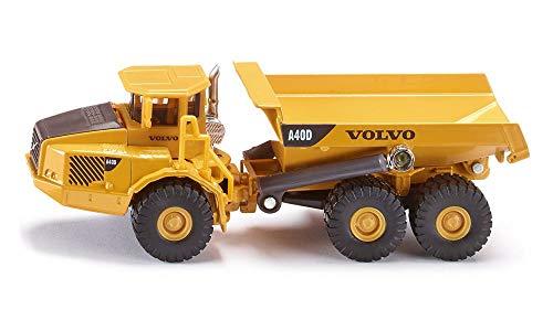 SIKU 1877, Volvo Dumper, Baustellenfahrzeug, 1:87, Metall/Kunststoff, Kippbare Mulde, Gelb