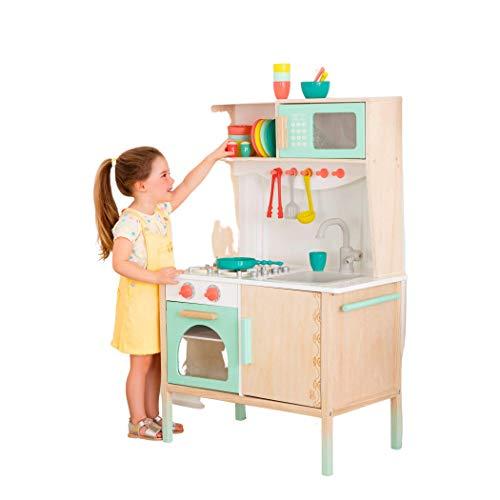 B. toys be Battat- Cuisine en Bois-Jeu d'imagination pour Enfants de 2 Ans et Plus (33 Pieces), BX1789Z