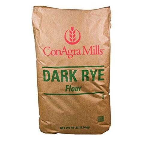 ConAgra Mills Dark Rye Flour, Fiber Rich, Excellent flour to make satisfying German Black Bread or Jewish Rye Bread Bulk 40 Lb. Bag