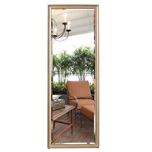 Household necessite/slaapkamerspiegel kledingwinkel probeert kleding woonkamervloer spiegel spiegel spiegel die volledig lengte spiegel aan de deur rechthoekige spiegel grote S