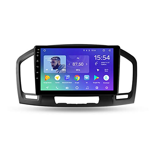 Foof 2 DIN Autoradio GPS Navigazione per Auto con Bluetooth 9'' IPS Touchscreen Supporta Android Auto Apple Carplay/Telecamera di Backup/DSP/Dab+/FM for Opel Insignia/Buick Regal