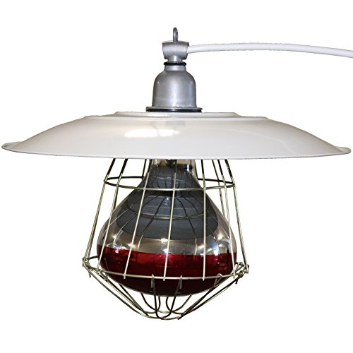 """Rite Farm Products Industrial 12"""" BROODER LAMP Fixture Chicken for COOP House Chick Warmer Heat Light"""