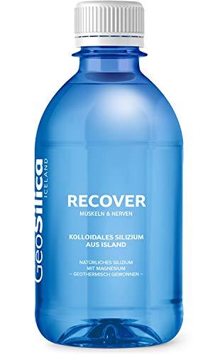 GeoSilica Recover – Kolloidales Silizium aus Island, Mit Magnesium zur Unterstützung der normalen Muskelfunktion, Vegan und 100% natürlich, Liefert 100 mg Silizium pro Tagesdosis, 300 ml