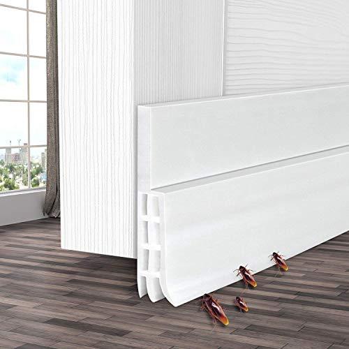 Door Draft Stopper, Ohuhu Door Sweeps, Weather Stripping for Doors, Under Door Draft Blocker, Door Seal Strip, Door Insulator, Draft Stoppers for Bottom of Doors Soundproof Wind Blocker, 39