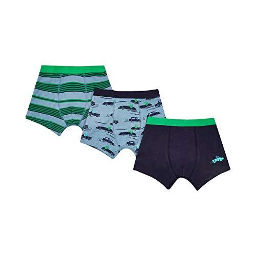 Mothercare Lot de 3 Boxers Pantalon bébé, Bleu/Vert