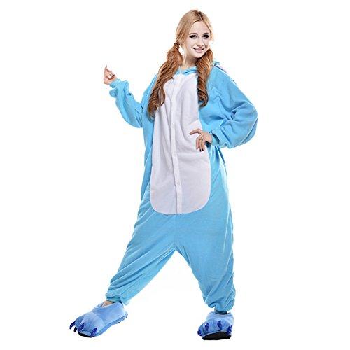 Pijamas Adultos Animales-Disfraz Anime Cosplay Ropa de Dormir Franela Traje Unisex Homewear S Elefante