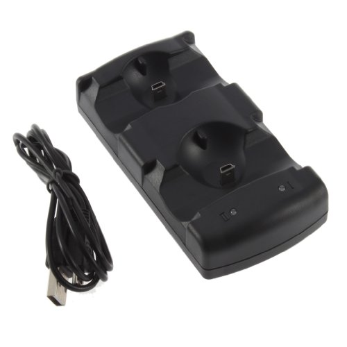 2 in 1 Dual Charging Game Station-oplader Standhouder Dockhouder voor PS3 (Zwart)